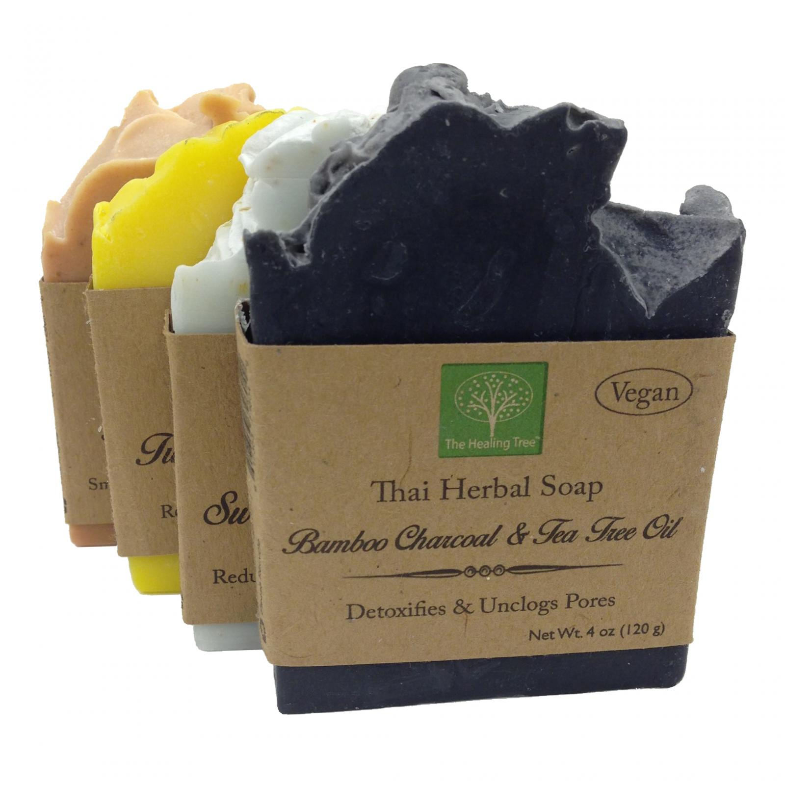 Thai Herbal Soap | Variety 4-Pack | Handmade Soap | Vegan