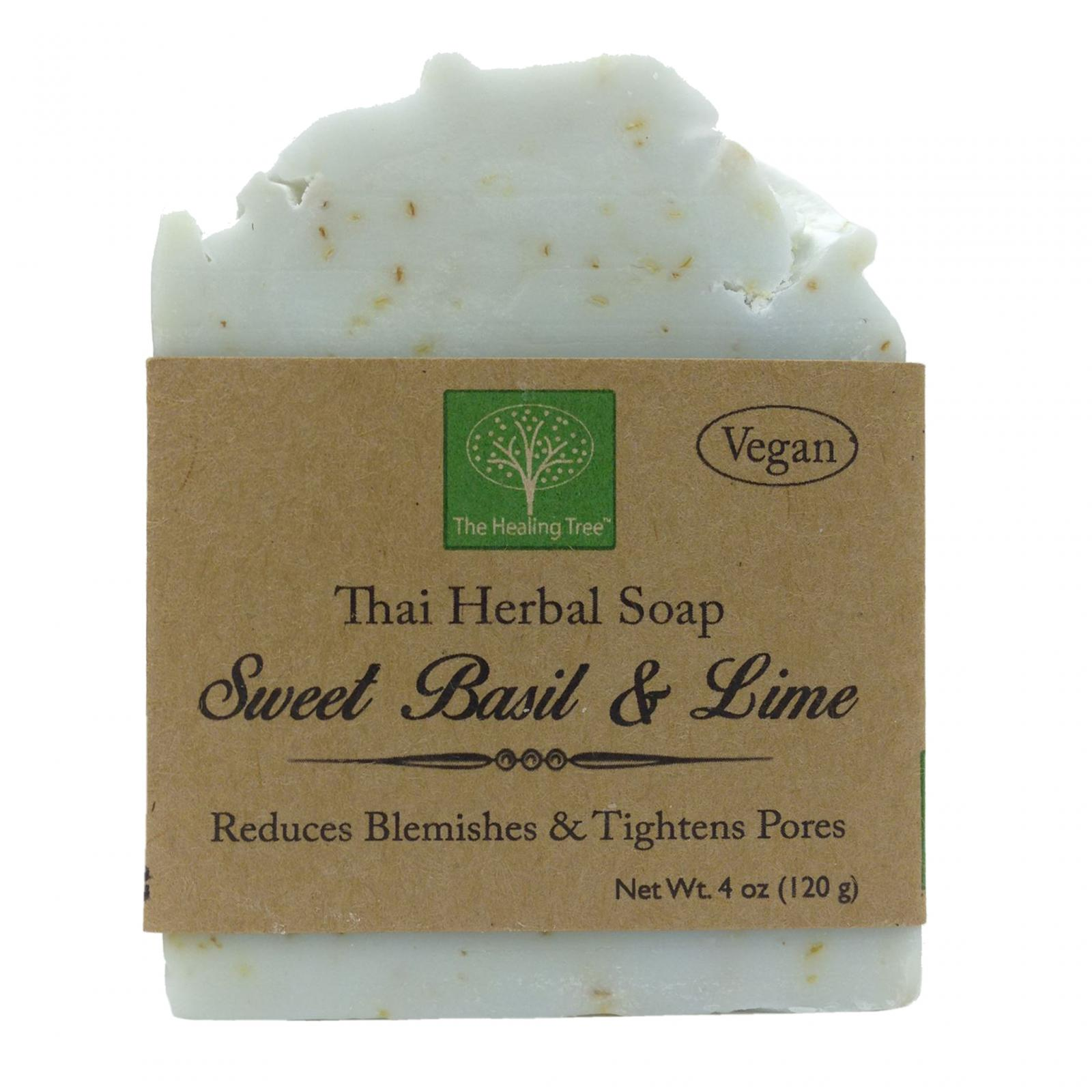 Sweet Basil & Lime Handmade Soap helps Reduce Blemishes & Tighten Pores