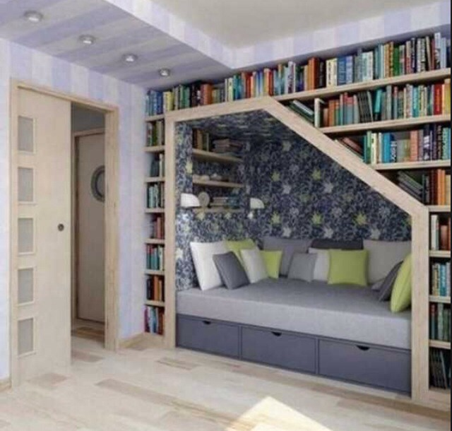 Built in beds. Don't have to add in books around the side but it looks awesome.