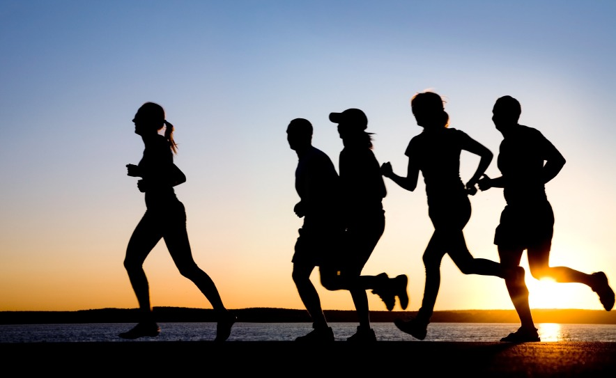 Grab a friend or a few  Your more likely to go for a run if youre running with friends This is a benefit because it can help you push eachother a gives you a pcycological boost  Aswell as makes you more competative and push you to really dig deep and do your best