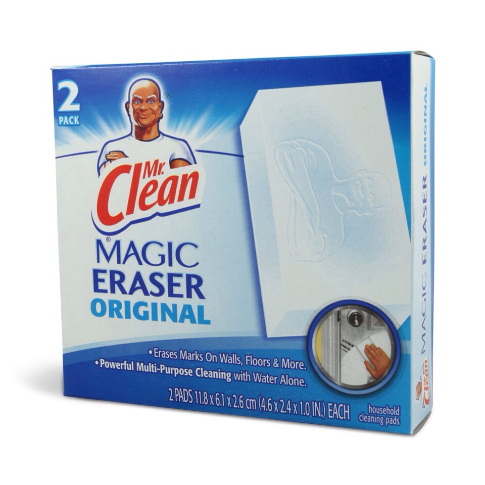 1) Use Mr. Clean Magic Erasers to remove excess grime and dirt