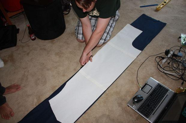 Pin down the body outline and cut around it, leaving some seam allowance.