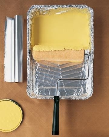 When painting line your tray with aluminum foil for a no mess clean up!