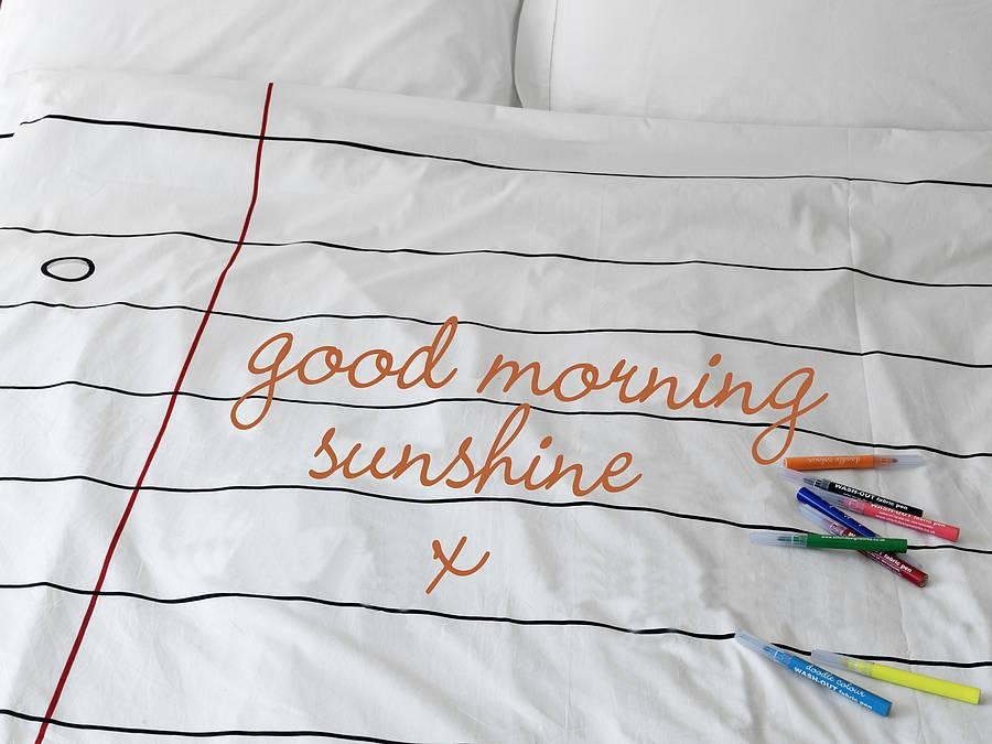 5. Doodle duvet cover (from €55, Doodle and Stitch). Now this is my kind of duvet cover. The notepad print is awesome in it's own right but throw in the possibility of writing lovey, lusty or don't-forget-the-milky notes and you have the perfect bed linen for busy couples.