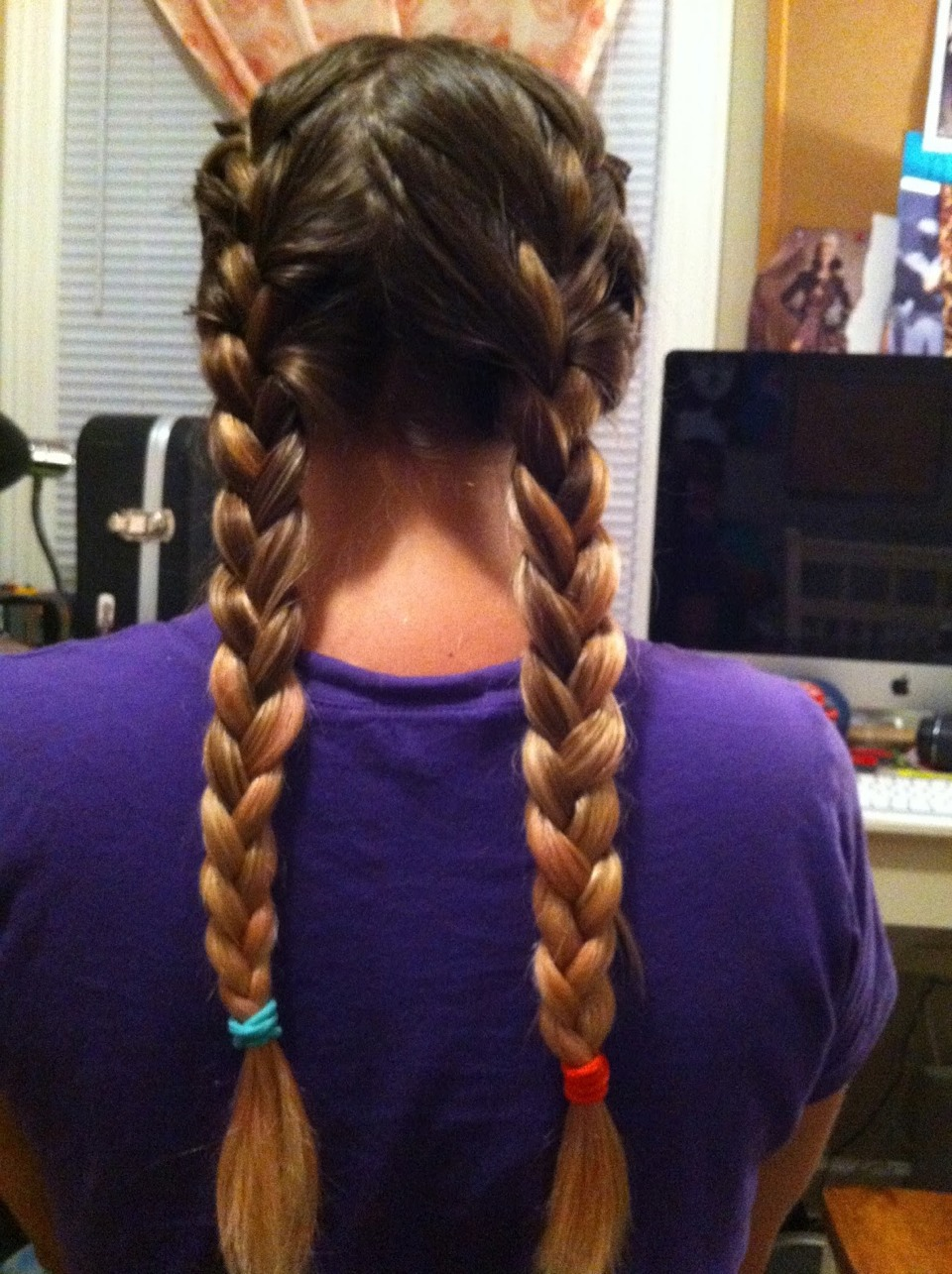 Braid hair before bed for waves in the morning