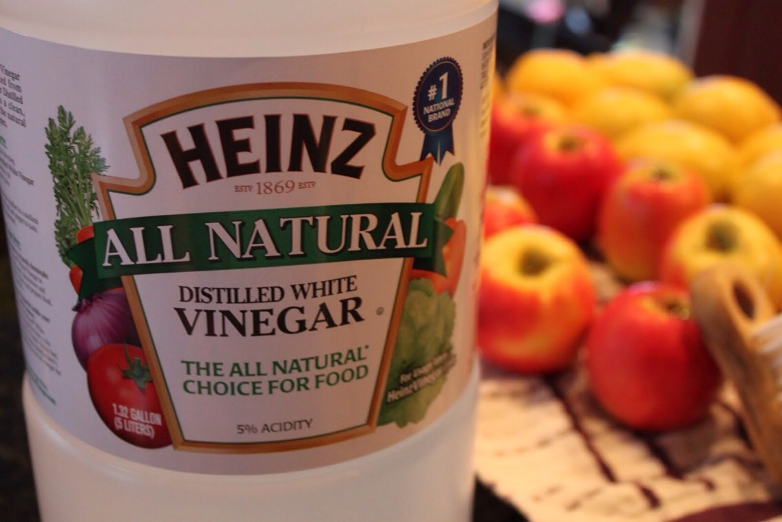 Of your choice & place into your fridge. If the fruit/veggies have been cut into, place damp coffee filter over the cut area & place into ziplock bag or a container & place into fridge. The vinegar will stop mold from growing on your produce. For berries, (DONT WASH BERRYS OR WET THEM) simply line