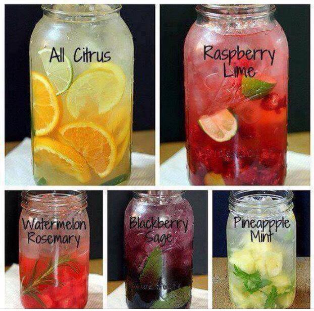 8 different detox water recipes - enjoy 😊