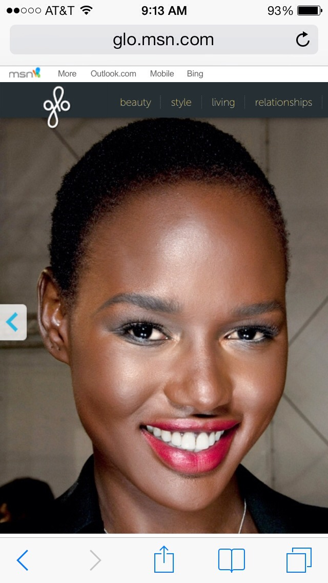 For dark skin with warm undertones... Gerstein suggests looking for warm, chestnut-tinged reds and sheer red glosses that allow your gorgeous skin tone to shine through.  Pro pick: Bobbi Brown Lip Color in Blackberry, $23