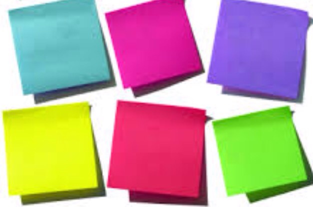 4: Sticky Notes! These are also great for reminders during the day. Just stick them on your locker door/wall! Also they can make good bookmarks!