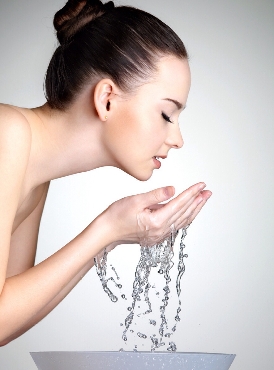 Wash your face as you normally do  Dry gently