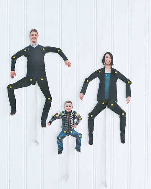 Mount photos on cardboard, joint the arms & legs & make family puppets!