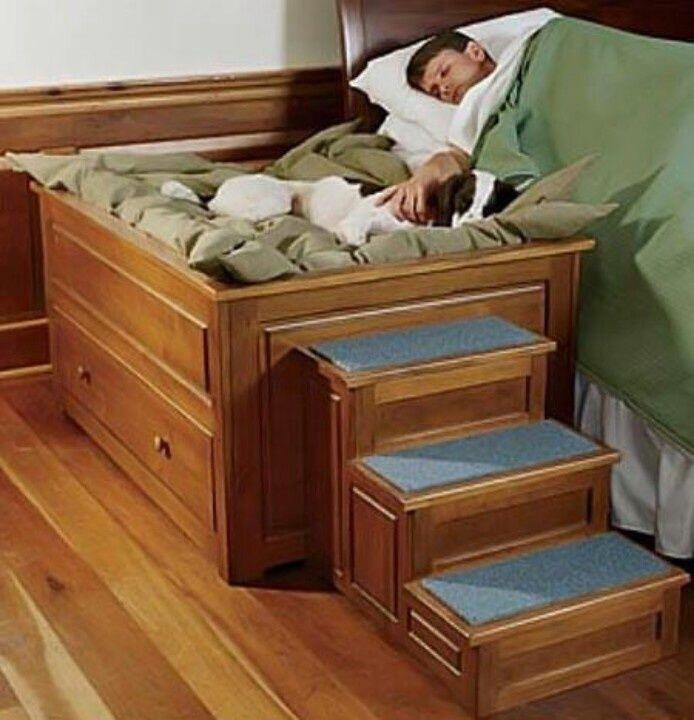 30. Raised bedside dog bed