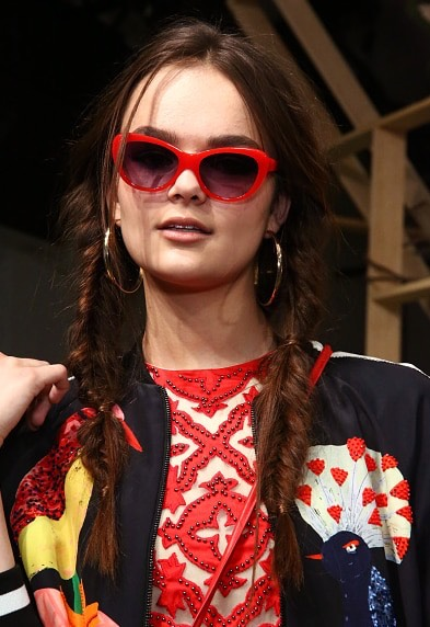 4. Alice + Olivia  I am loving the double fishtail braids seen on the models at the Alice + Olivia show.