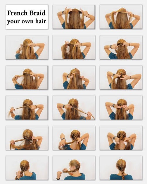 This is how to French braid. Use this and spray it with hair spray.