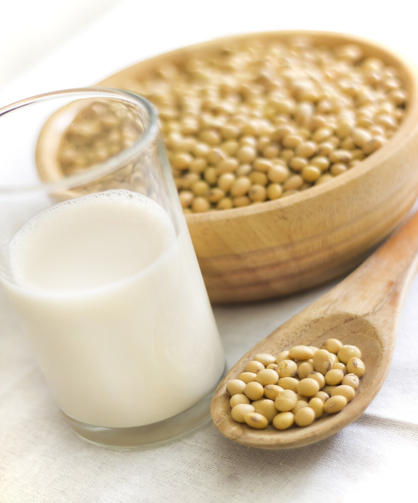 Soymilk contains isoflavones, a group of naturally occurring organic compounds that prevent collagen breakdown. A glass of soy a day will help reduce wrinkles while toning and smoothing skin—even when if it's exposed to harsh UV light.