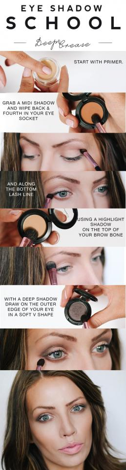 For another take on the deep crease, check out this tutorial on Maskcara.