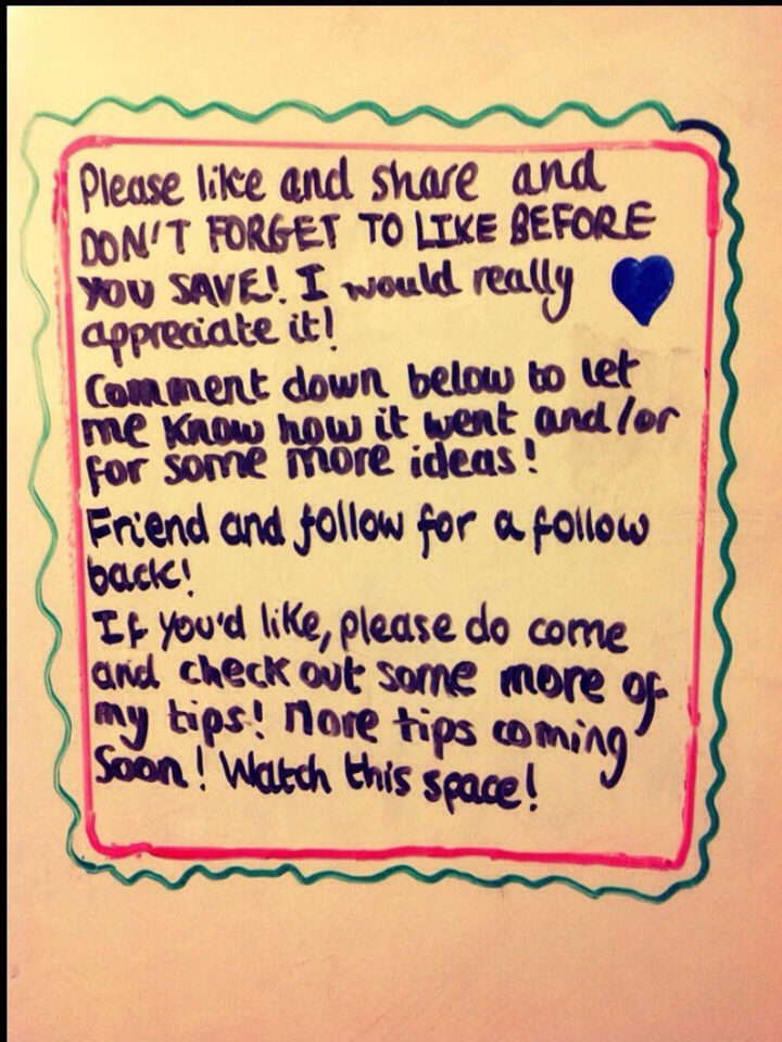 👍💕PLEASE CONTINUE TO LIKE BEFORE YOU SAVE! 😉❤️ It is much appreciated! 💕👍   Like and follow for more great tips! 👍👍👍