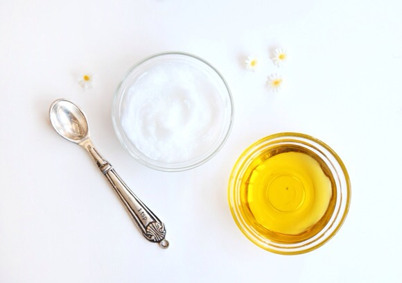 Coconut Oil or Olive Oil  It is incredibly hydrating, and it smells amazing. I just rub some on my fingers and run them through my  hair when it is feeling really dry. Focus mostly on the ends when doing this, as opposed to the roots (you don't want your scalp to get too oily).