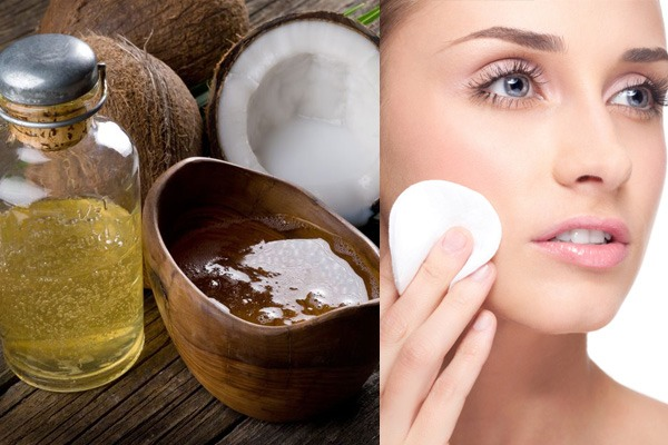 Use coconut oil to remove makeup. Makeup is gone in no time