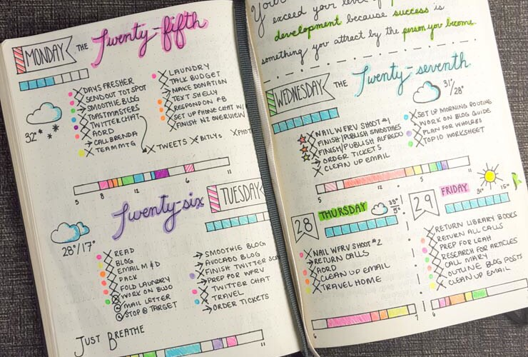 This brightly coloured and well planned week.