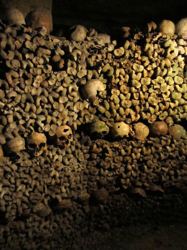 The catacombs in London Paris , most parts are closed of to the public they have the occasional tours