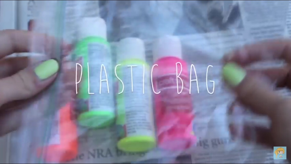 One plastic bag