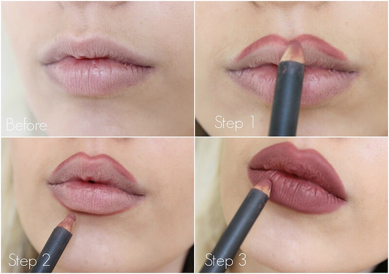 Last, you can over draw your lips to get the illusion of fuller luscious looking lips!
