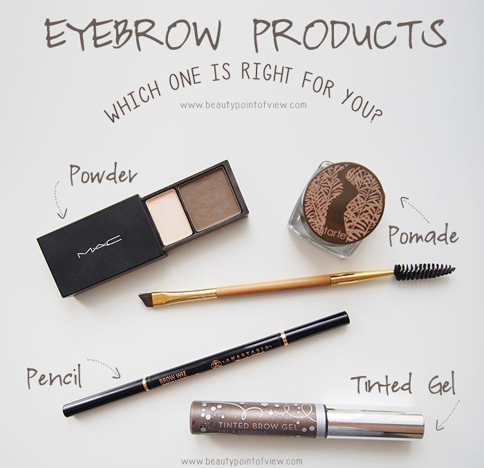 Picking the right product is important in getting perfect brows. Here are the 4 basic types. Sometimes a combination of these products works best.