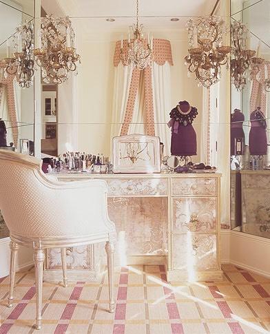 Or create a fancy, lavish scene around your vanity