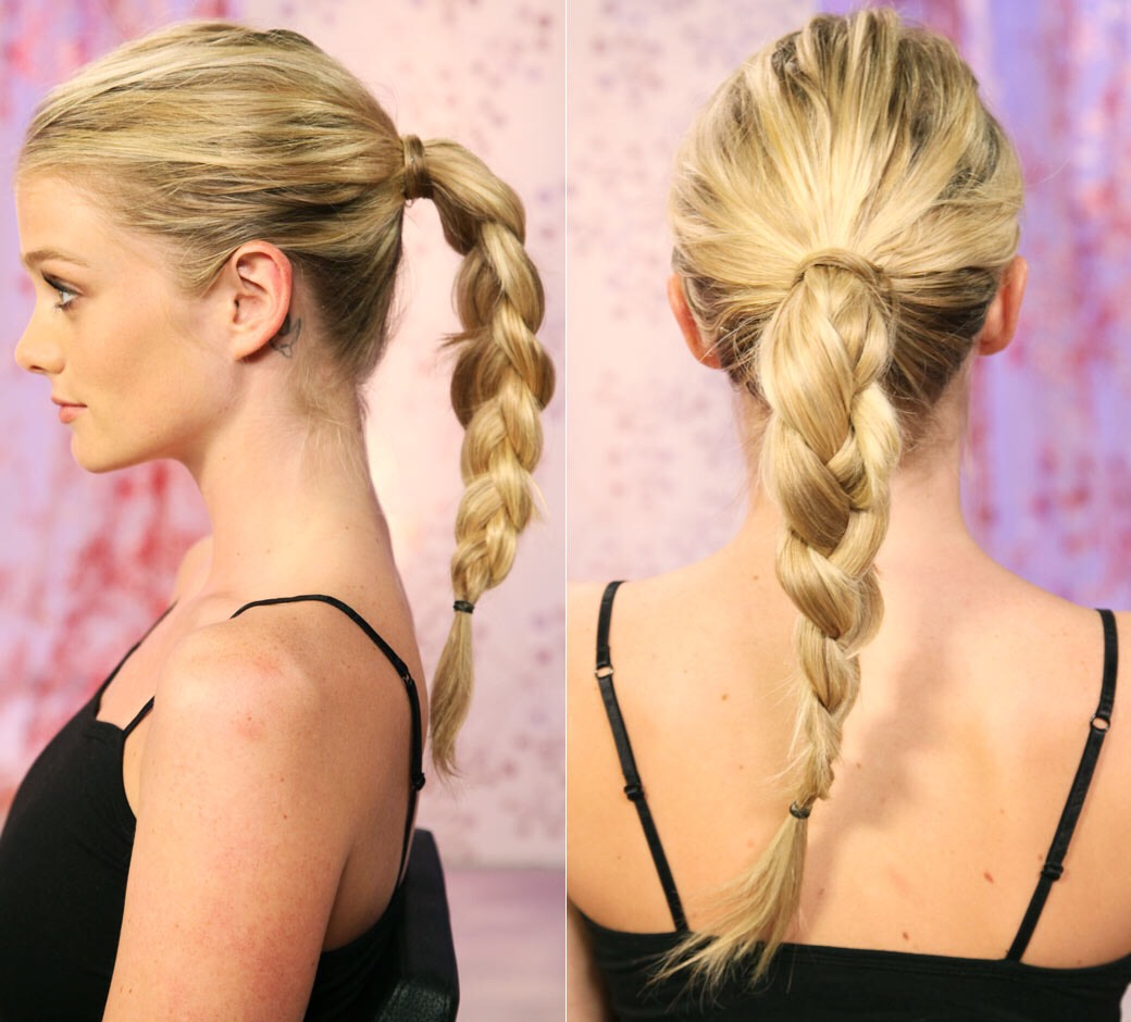 As soon as your hair is up, plait it. The looser the plait, the looser the waves.