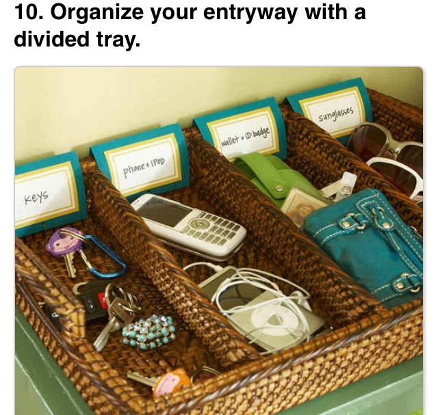 Door drop organizer