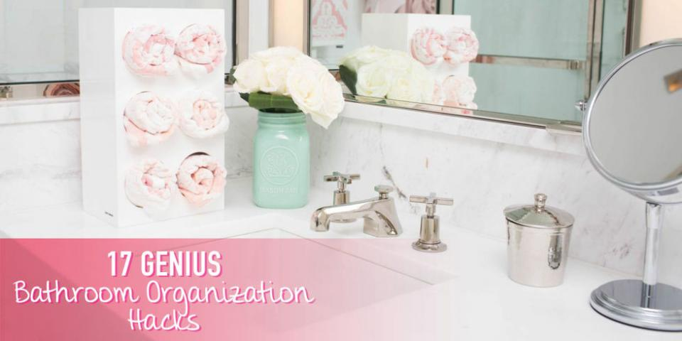 Declutter your bathroom without tossing any of your beloved products.