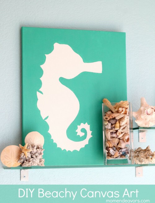 Cut out a stencil and tape it wherever you would like. Then pick a color and paint around it. Once the paint is completely dry. Remove the stencil & you will have your design.