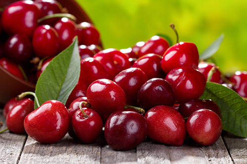 5. Cherries Cherries are a reliable, natural source of melatonin, one of the major neurotransmitters that help promote sleep. Adding cherries to your diet will help regulate your sleeping pattern, making you tired at more constant intervals. As a bonus, they are also high in vitamins A and C.