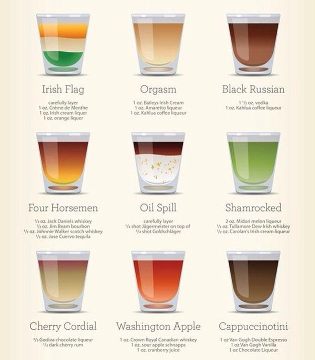 30 Easy Shot Recipes 😉 By Lae :)