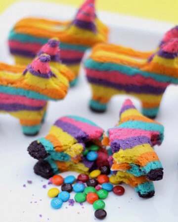 23. M&M Piñata Cookies
