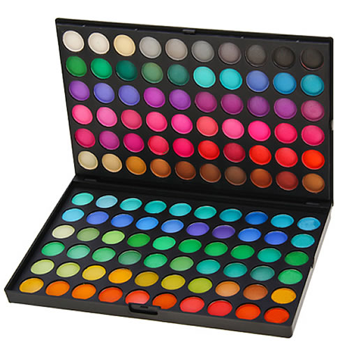 get any color of eyeshadow you want, and make it into dust..