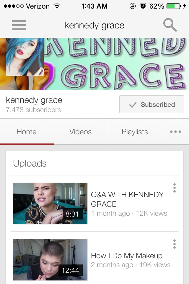 Kennedy Grace is famous on Vine, so you might know her from there. She's has such an amazing story and influences so many to remember they're beautiful!