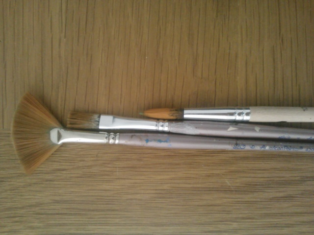 Brushes from Michaels. This were a bit expensive but you buy a pack for $5.00
