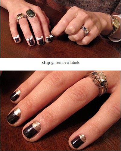 Use paper hole reinforcements to give yourself a half-moon manicure.