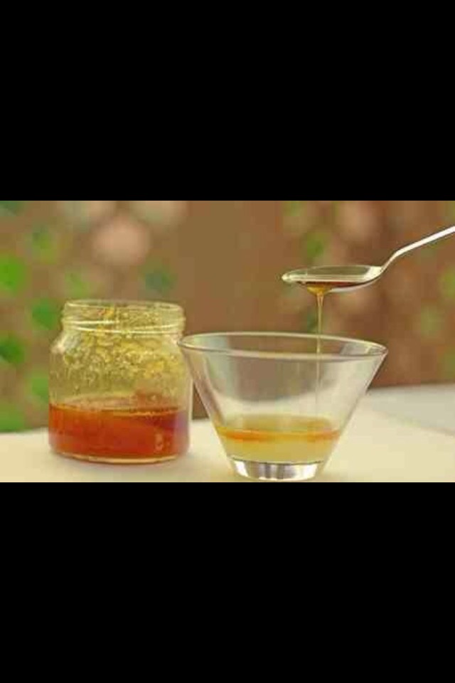 Finally, put one teaspoon of honey in it.
