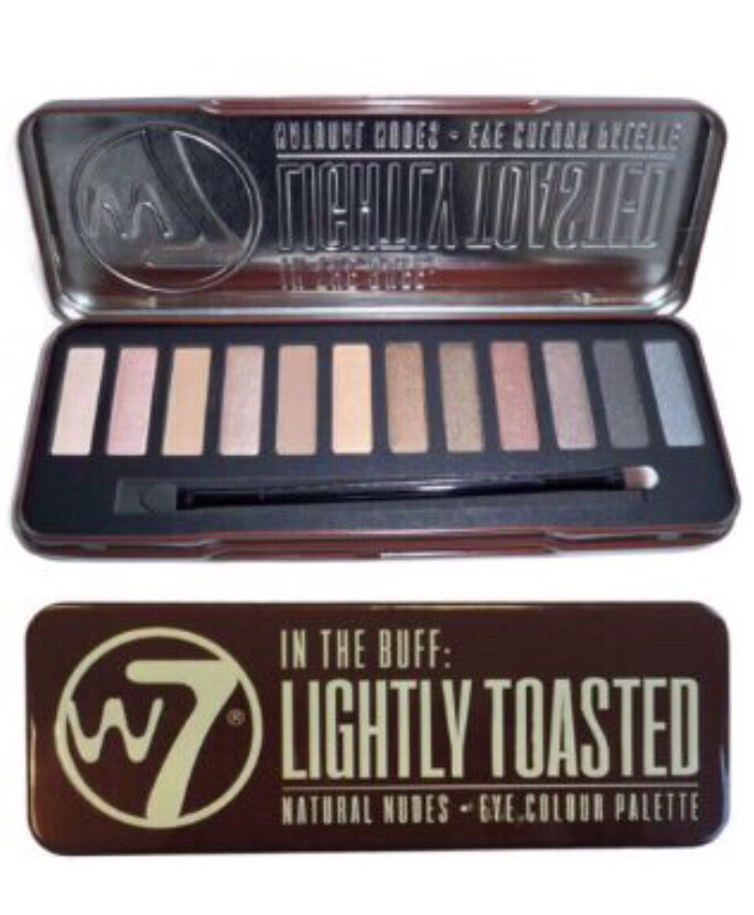 The W7 Lightly Toasted palette is a much cheaper alternative to the original Naked palette.