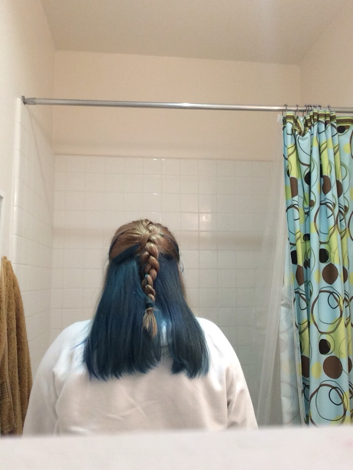 Okay! So this is right after I died my hair blue!!! (30minutes after!) love it!!!