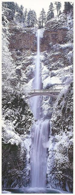 Multnomah Falls, Oregon in Winter
