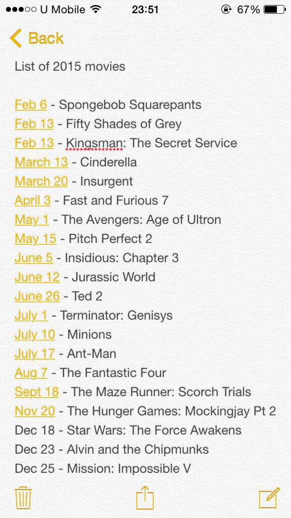 Movies that are coming out this year