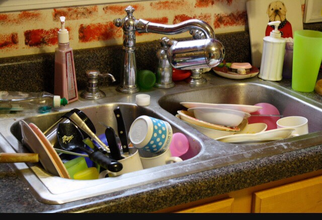 Of course make sure to do dishes, even if it is just throwing them in the dishwasher.