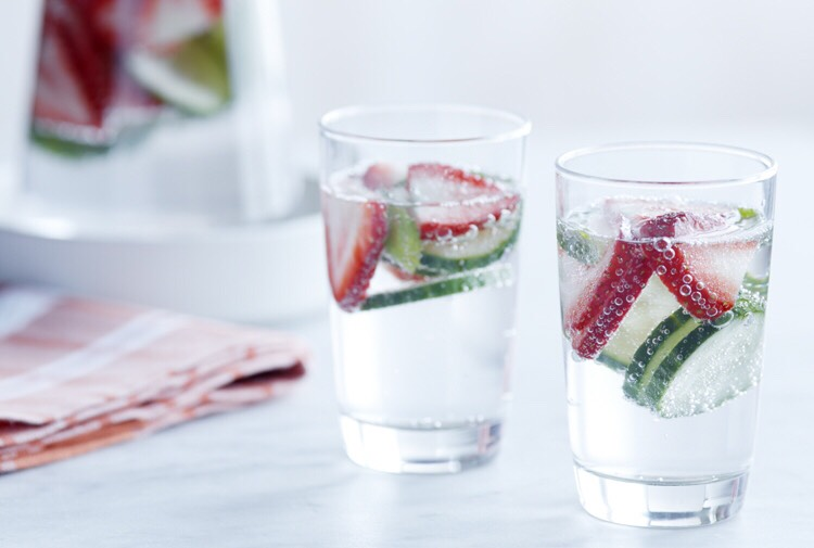 10. Strawberry, Cucumber, and Basil Water  Transform sparking water into a light and refreshing treat with the simple addition of strawberries, sliced cucumber, and fresh basil. Recipe: http://www.driscolls.com/recipes/view/7989/Strawberry-Cucumber-Basil-Water