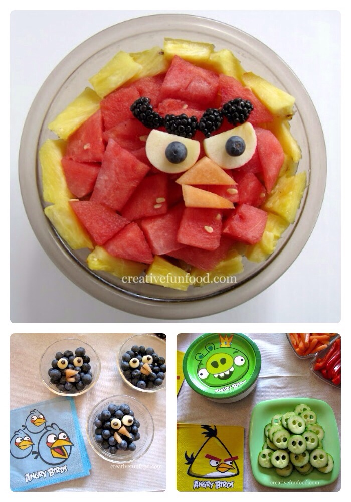 Angry birds fruit bowl.   Hmmmm