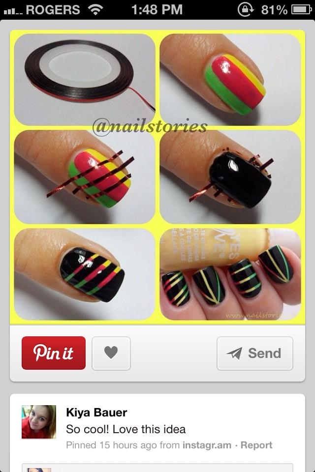 Musely cut thing slices of tape with scissors and design you nail prinsesfo Choice Image