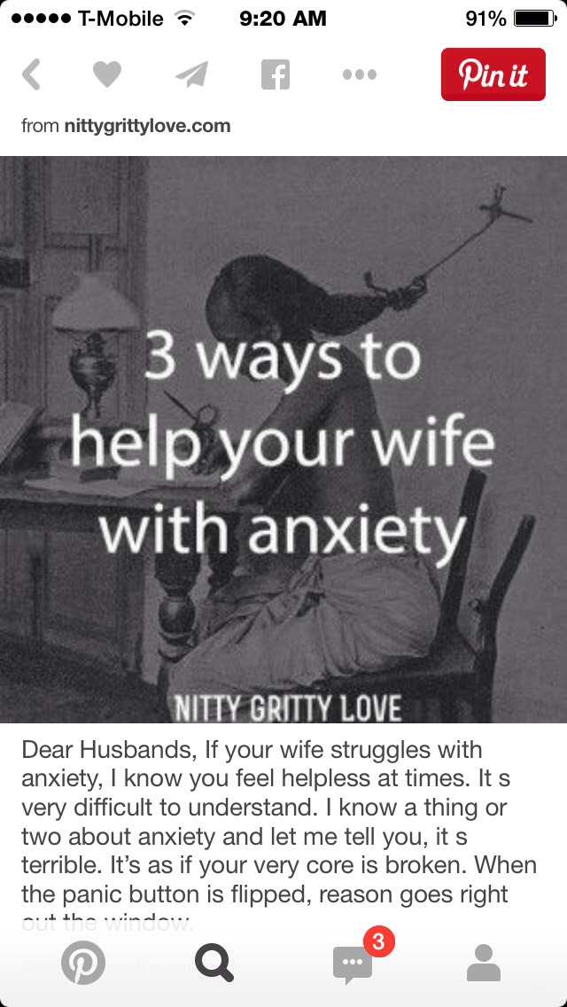 💥3 Ways To Help Your Wife With Anxiety💥 by Jessica Lovess